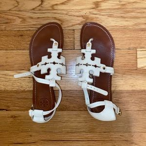 Tory Burch - White Strappy Sandals - Size 8.5